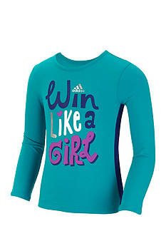 adidas® Win Like A Girl Long Sleeve Top Girls 4-6x