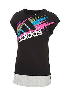 adidas Multi Logo Tee Girls 7-16