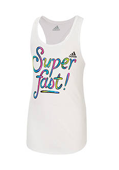 adidas 'Fearless' Graphic Tank Girls 7-16