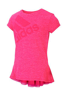 adidas Melange Ruffle Bottom Tee Girls 7-16