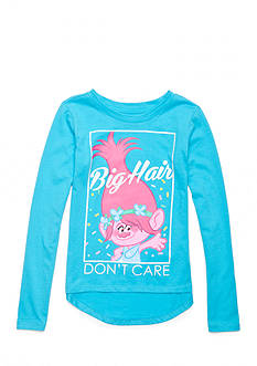 DreamWorks Trolls 'Big Hair Don't Care' Long Sleeve Shirt Girls 4-6x