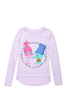 DreamWorks Trolls 'Bump It' Long Sleeve Character Shirt Girls 4-6x