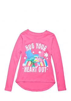 DreamWorks Trolls 'Hug Your Heart Out' Long Sleeve Shirt Girls 4-6x
