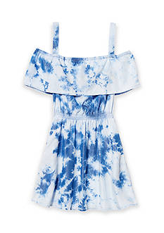 Jessica Simpson Off-the-Shoulder Tie Dye Dress Girls 7-16