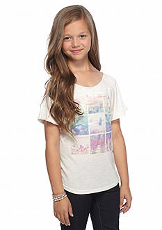 Jessica Simpson Kallie Snapshot Cold Shoulder Top Girls 7-16