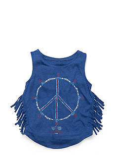 Jessica Simpson Rini Isum Fringe Peace Tank Top Girls 7-16