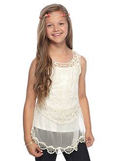 Jessica Simpson Francesca Crochet Tank Top Girls 7-16