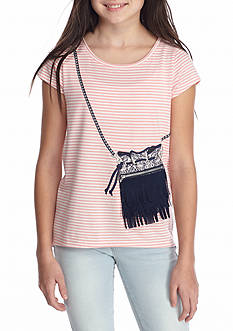 Jessica Simpson Nora Top With Fringe Purse Girls 7-16