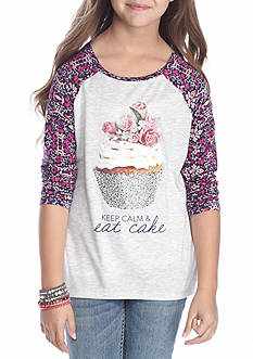 Jessica Simpson Cupcake 3/4 Sleeve Graphic Tee Girls 7-16