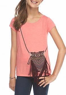 Jessica Simpson Nora Short Sleeve Purse Tee Girls 7-16
