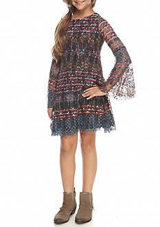 Jessica Simpson Flare Sleeve Peasant Dress Girls 7-16