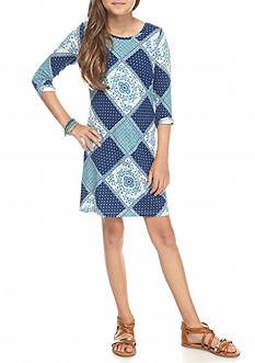 Jessica Simpson Printed T-Dress Girls 7-16
