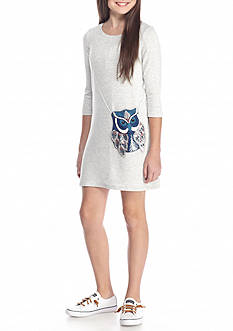 Jessica Simpson Enya Owl Purse Dress Girls 7-16
