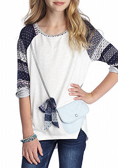 Jessica Simpson Denim Graphic Tee Girls 7-16