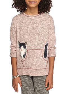 Jessica Simpson Cat Graphic Top Girls 7-16