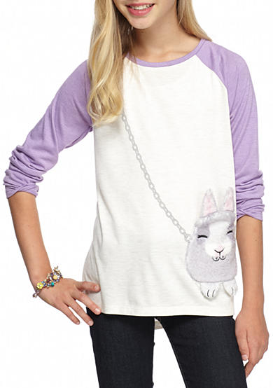 Jessica Simpson Bunny Graphic Top Girls 7-16