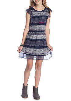 Jessica Simpson Sleeveless Fit and Flare Tiered Dress Girls 7-16