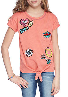 Jessica Simpson Tie Front Graphic Tee Girls 7-16
