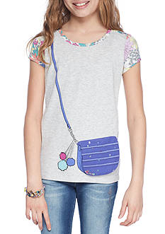 Jessica Simpson Hi-Lo Graphic Tee Girls 7-16