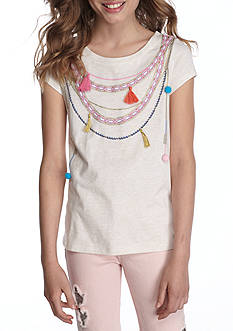 Jessica Simpson High Low Necklace Tee Girls 7-16