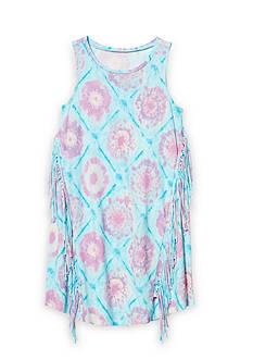 Jessica Simpson Tie Dye Fringe Dress Girls 7-16