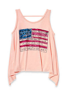 Jessica Simpson American Flag Tank Girls 7-16