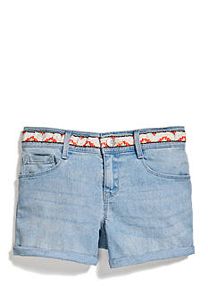 Jessica Simpson Forever Baby Roll Cuff Denim Shorts Girls 7-16