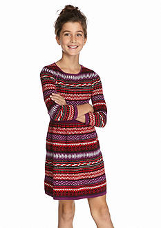 Jessica Simpson Tribal Print Sweater Dress Girls 7-16