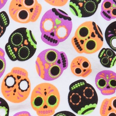 Girls Underwear: Bright Sugar Skull Maidenform Seamless Hipster Girls 7-16