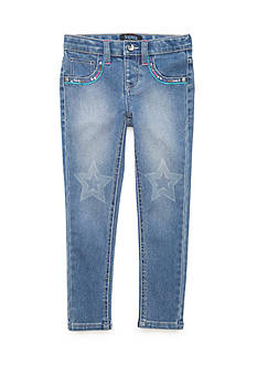 Squeeze Glitter With Stars Jeans Girls 4-6x