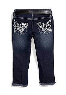 Squeeze Butterfly Back Pocket Capri Girls 7-16