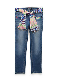Squeeze Tribal Heart Sash Jeans Girls 4-6x