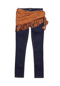 Squeeze Fringe Wrap Skinny Jean Pants Girls 7-16
