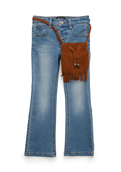 Squeeze Suede Fringe Bag Jeans Girls 4-6x