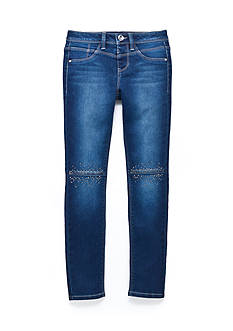 Squeeze Bling Knee Skinny Jean Pant Girls 7-16