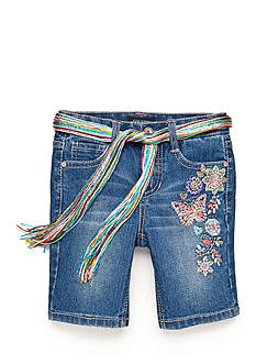 Squeeze Embroidered Bermuda Shorts Girls 4-6x