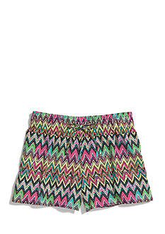 Squeeze Neon Chevron Printed Soft Shorts Girls 7-16