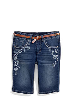Squeeze Floral Printed Bermuda Shorts with Belt Girls 7-16