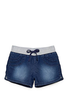 Squeeze Knit Jean Shorts Girls 7-16
