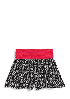 Squeeze Geo Print Shorts With Crochet Band Girls 7-16