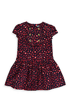 Hartstrings Heart Print Dress Girls 4-6x