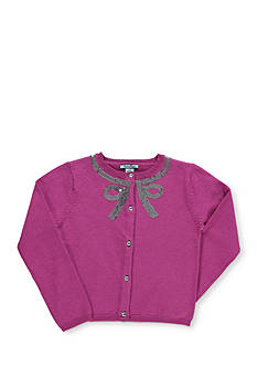 Hartstrings Long Sleeve Bow Cardigan Girls 4-6x