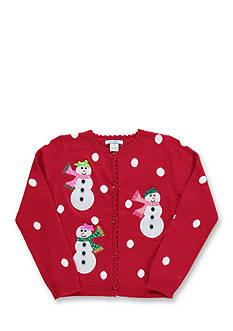 Hartstrings Snowman Cardigan Girls 4-6x