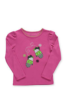 Hartstrings Long Sleeve Mittens Tee Girls 4-6x