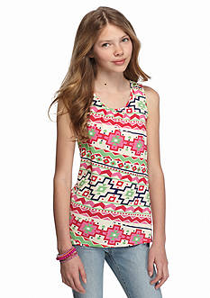 Red Camel® Crochet Back Printed Tank Top Girls 7-16