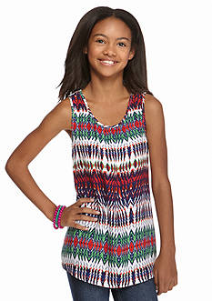 Red Camel® Crochet Back Tribal Tank Girls 7-16