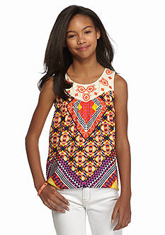 Red Camel® Embroidered Tribal High Low Tank Girls 7-16