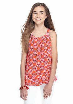 Red Camel® Printed Ruffle Tank Top Girls 7-16