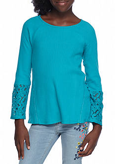 Red Camel® Waffle Lace Top Girls 7-16
