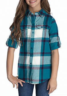 Red Camel® Woven Plaid Top Girls 7-16